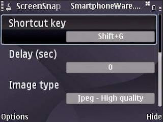 Aplikasi screenshot s60v3