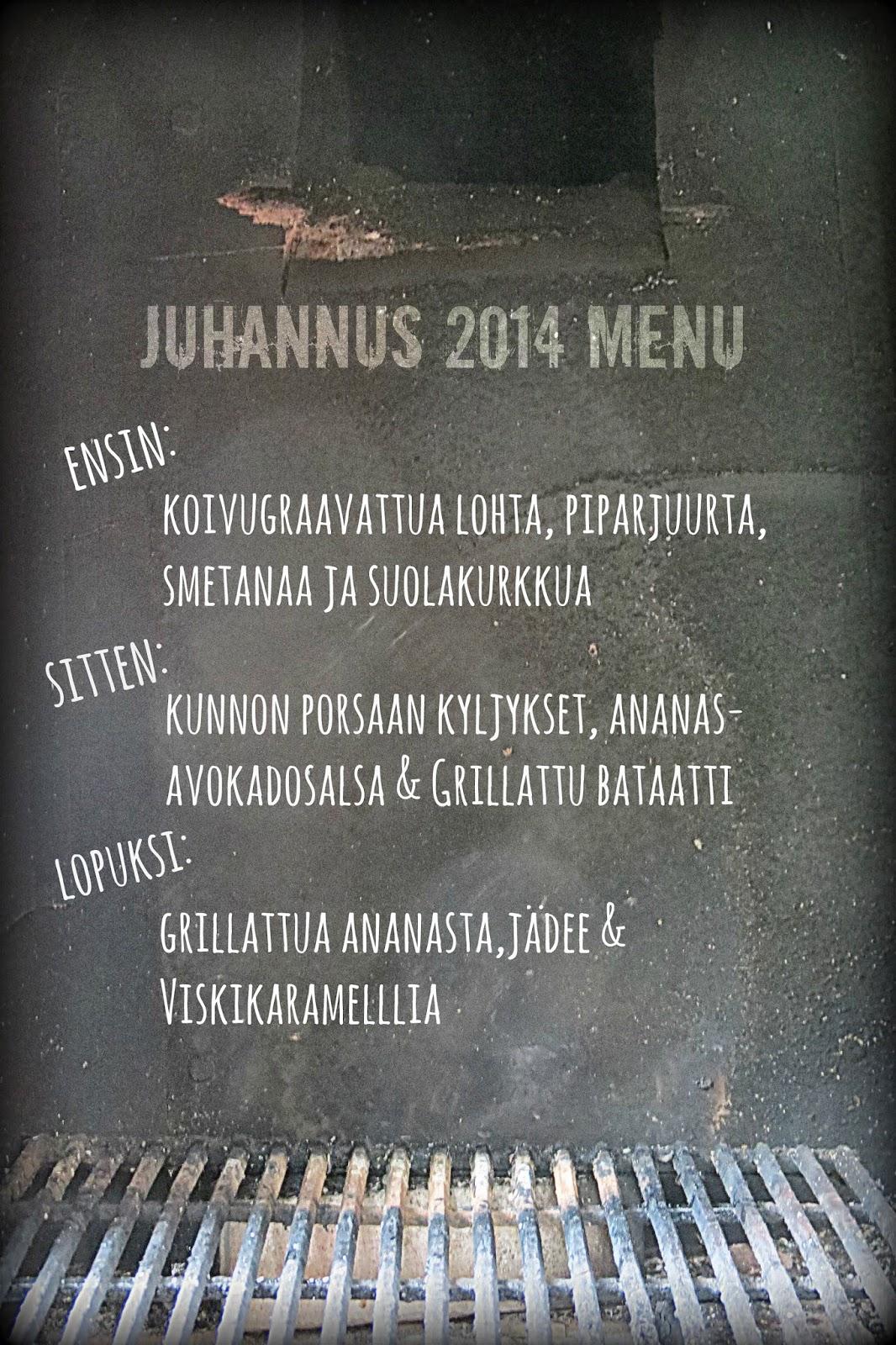 Juhannuksen menu ja päätähtenä mehevät kyljykset