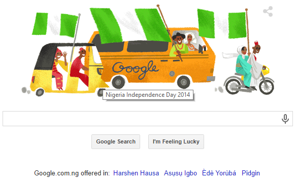 Google Search Indicates Nigeria Independence Day 2014