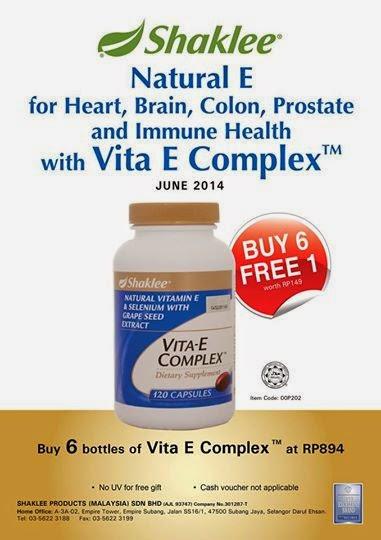 vitamin e complex promosi shaklee jun 2014