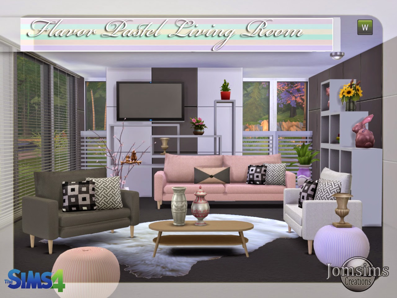 Jomsimscreations blog new living room sims 4 flavor for Mods sims 4 muebles