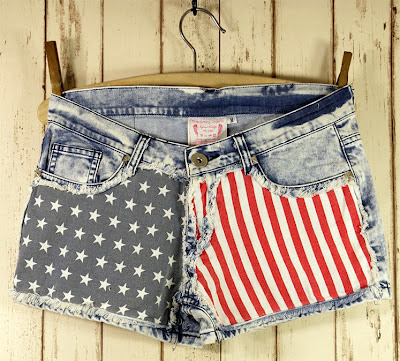 american-flag-denim-shorts july 4 photo picture idea