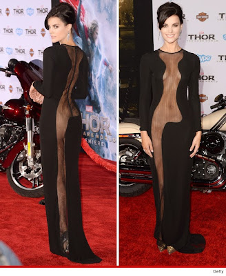 Jaimie Alexander, Thor:The Dark World, premeier, Jaimie Alexander see through dress