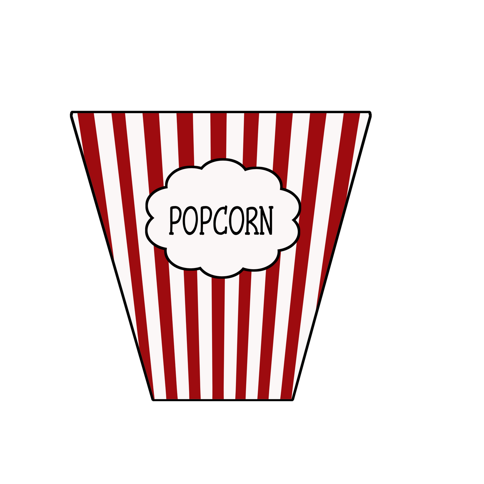 This is a picture of Unusual Popcorn Bag Printable