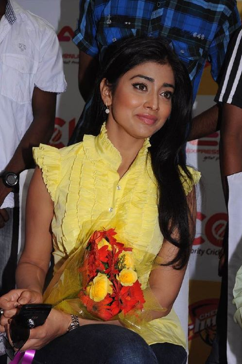 Shriya Saran New Stills  CCL Promotional Events Photo Gallery navel show