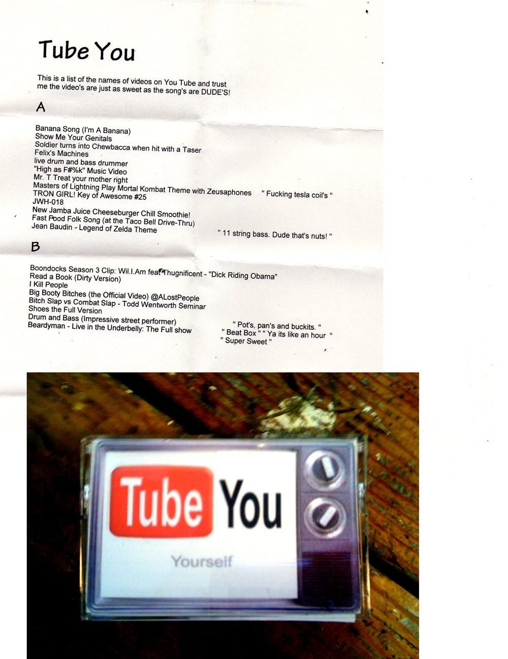 "the yeti records mix tape exchange: ""tube you"""