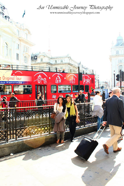 Travel Photos Marjolyn indulging the beauty of Piccadilly Circus London UK