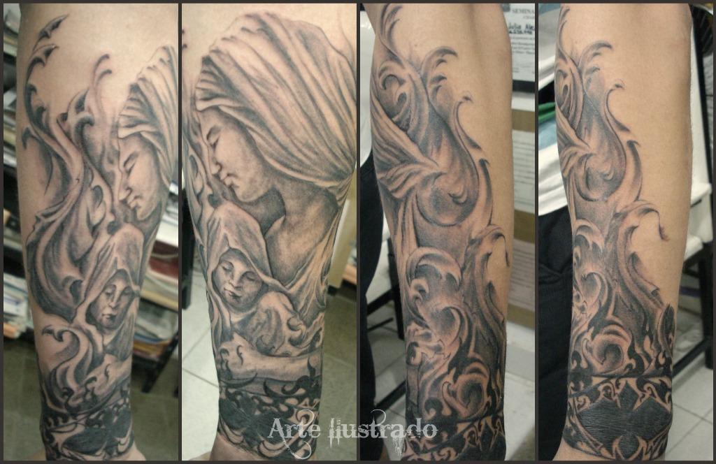 tatoo de la virgen de guadalupe y san expedito taringa tattoo design bild. Black Bedroom Furniture Sets. Home Design Ideas