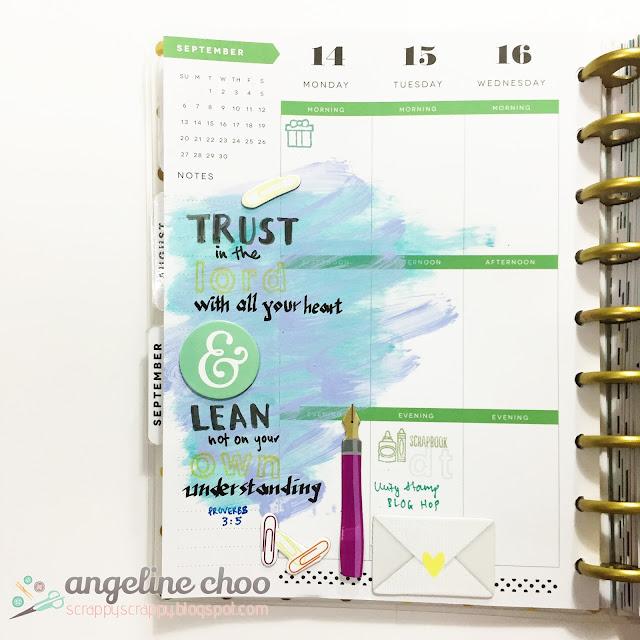 ScrappyScrappy: Trust & Lean Not #scrappyscrappy #planner #mambi #happyplanner #bible #artjournal #biblejournal #distress
