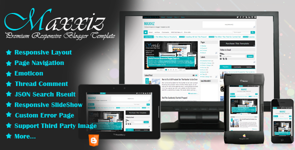 Maxxiz Premium Responsive Blogger Template Poster