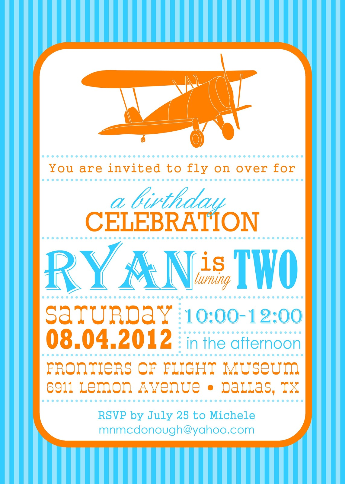 Daily Dimples Airplane Party Details
