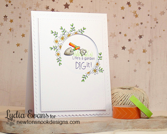 I dig it Garden card by Lydia Evans | Garden Whimsy | Garden Stamp Set by Newton's Nook Designs