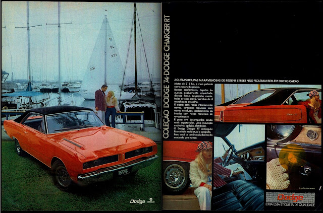propaganda Chrysler Dodge Charger RT 74 - 1973