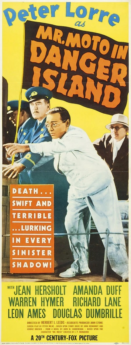Mr. Moto in Danger Island Vintage 1932 Film Poster Starring Peter Lorre