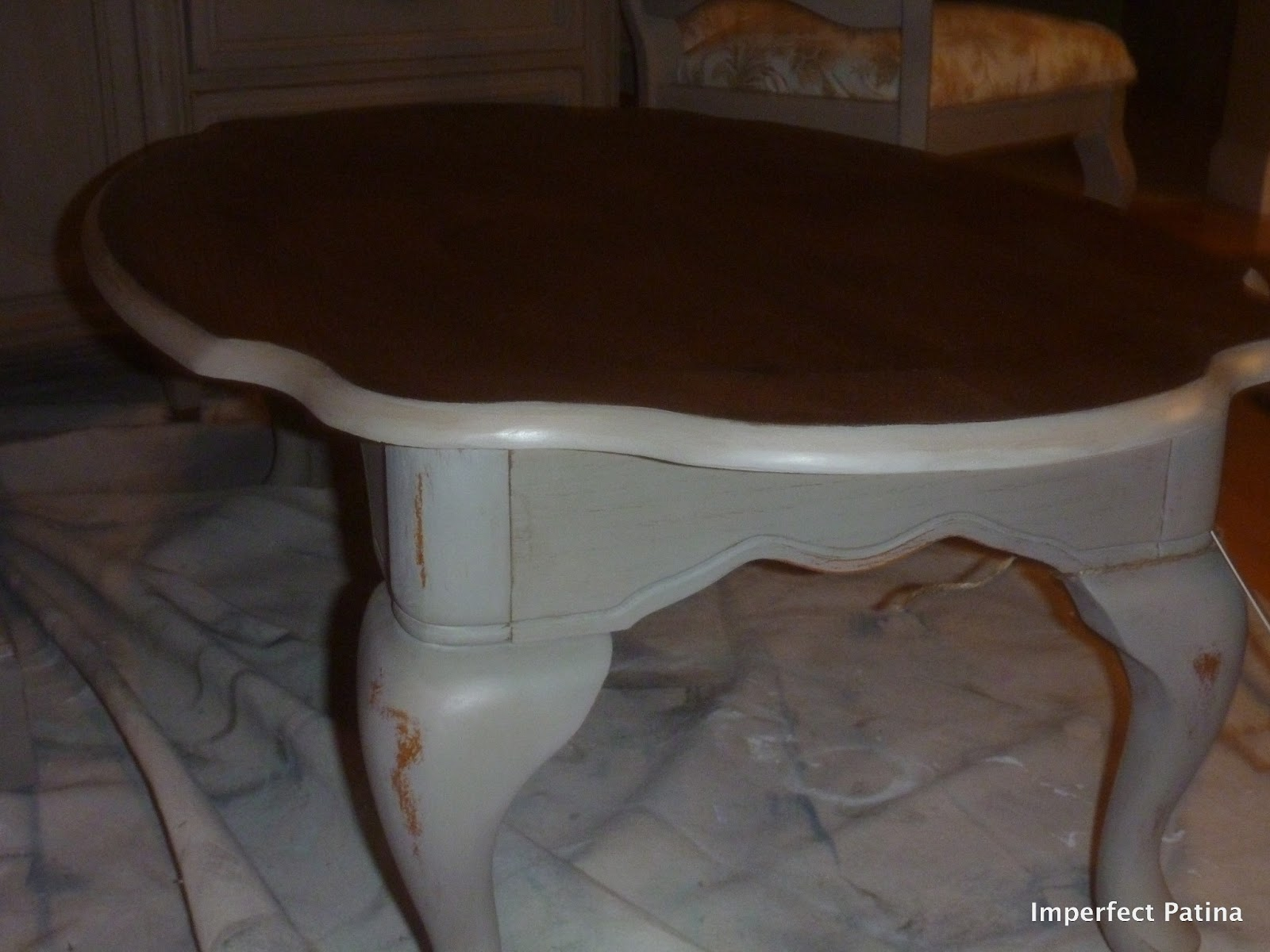 Imperfect Patina French Linen Coffee Table