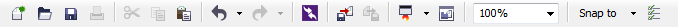 Mengenal bagian CorelDRAW - Toolbar/Standar bar