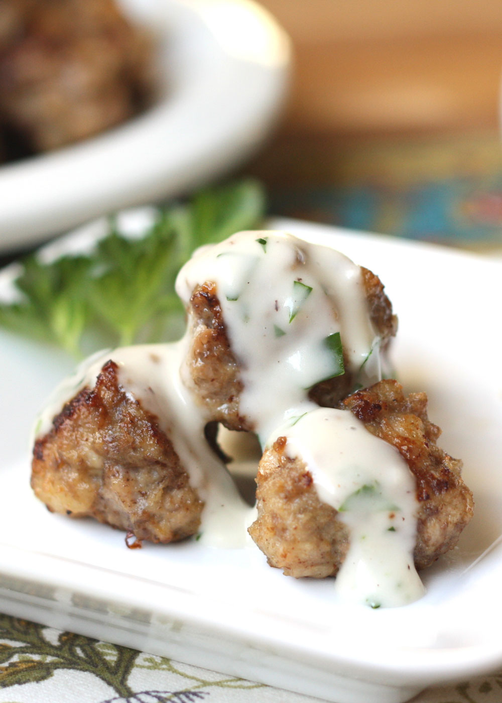 The BEST Swedish Meatballs with a light cream sauce - recipe by Barefeet In The Kitchen