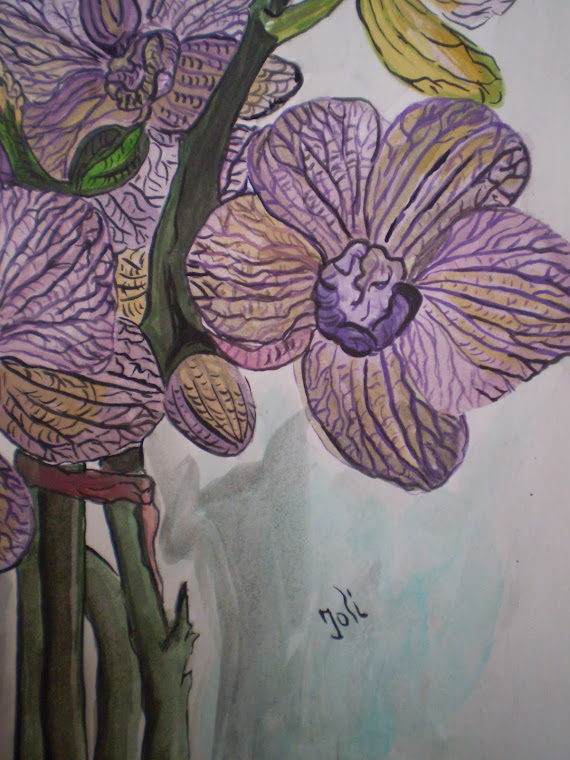 purple orchid, detail2