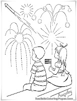 4th of july coloring pages fireworks