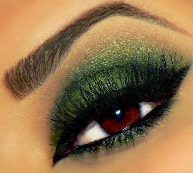 Maquillaje de Ojos para Año Nuevo, parte 2