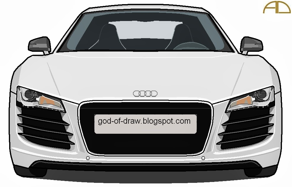 Seleofficialart Audi R8 Drawings On Ms Paint