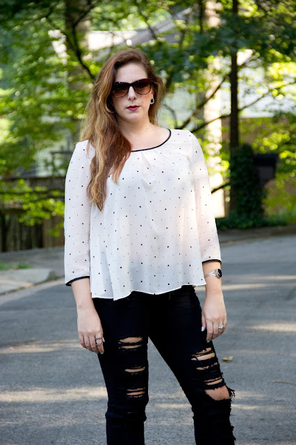 Fashion Blogger Lipstick and chiffon