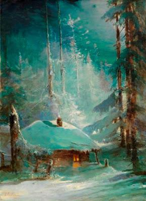 Алексей Саврасов, Изба в заснеженном лесу, 1888 г. (350 000-500 000 GBP)