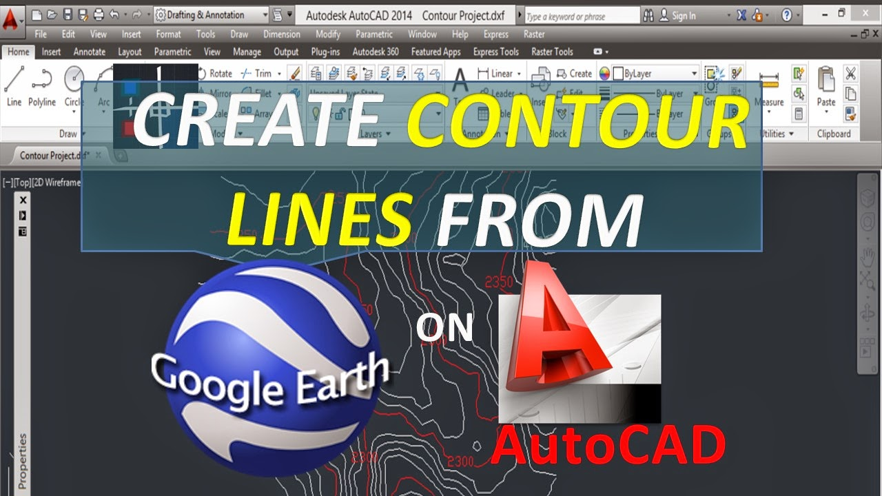 Create Contour Lines From Google Earth On Autocad