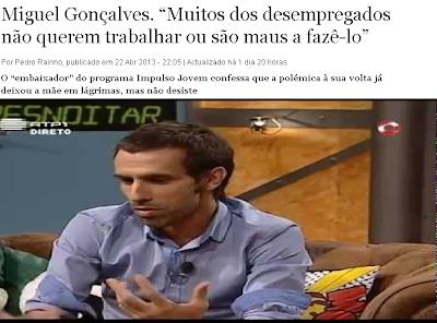 Bruno Nogueira volta a achincalhar Miguel Gonçalves