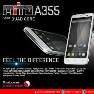 Review Spesifikasi Ponsel Lokal Mito A355