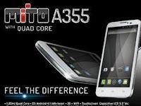 Mito A355 Harga Fitur dan Spesifikasi HP Mito Android A355