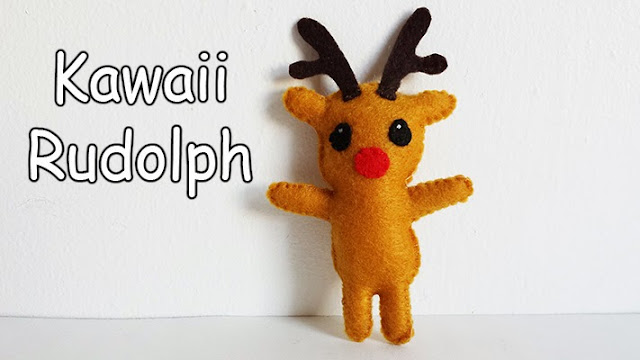 How to Make a Kawaii Rudolph Reindeer plushie tutorial
