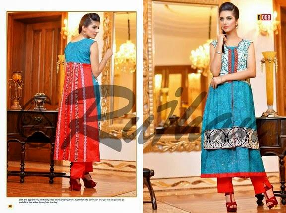 FestivanaEidCollectionByRujhanFabrics wwwfashionhuntworldblogspot 1  - Festivana Eid Collection 2014-2015 By Rujhan Fabrics