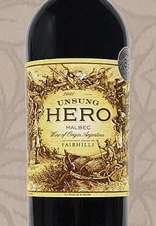 Mendoza Vineyards Unsung Hero Malbec, picture of front wine label