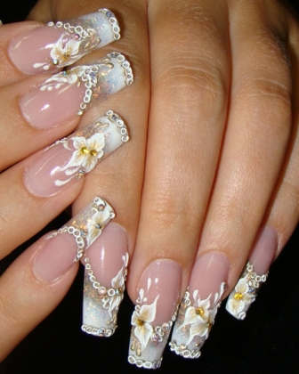 Nail Art And Designs World Bridal Nail Art 2012