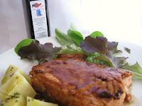 trancio di  salmone  in salsa  Teriyaki