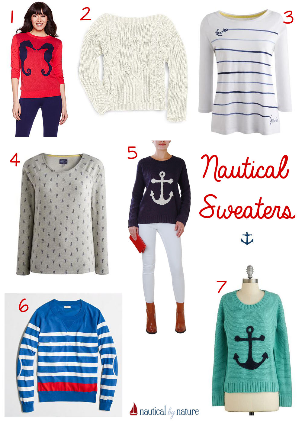 Nautical by Nature | Nautical sweaters for fall