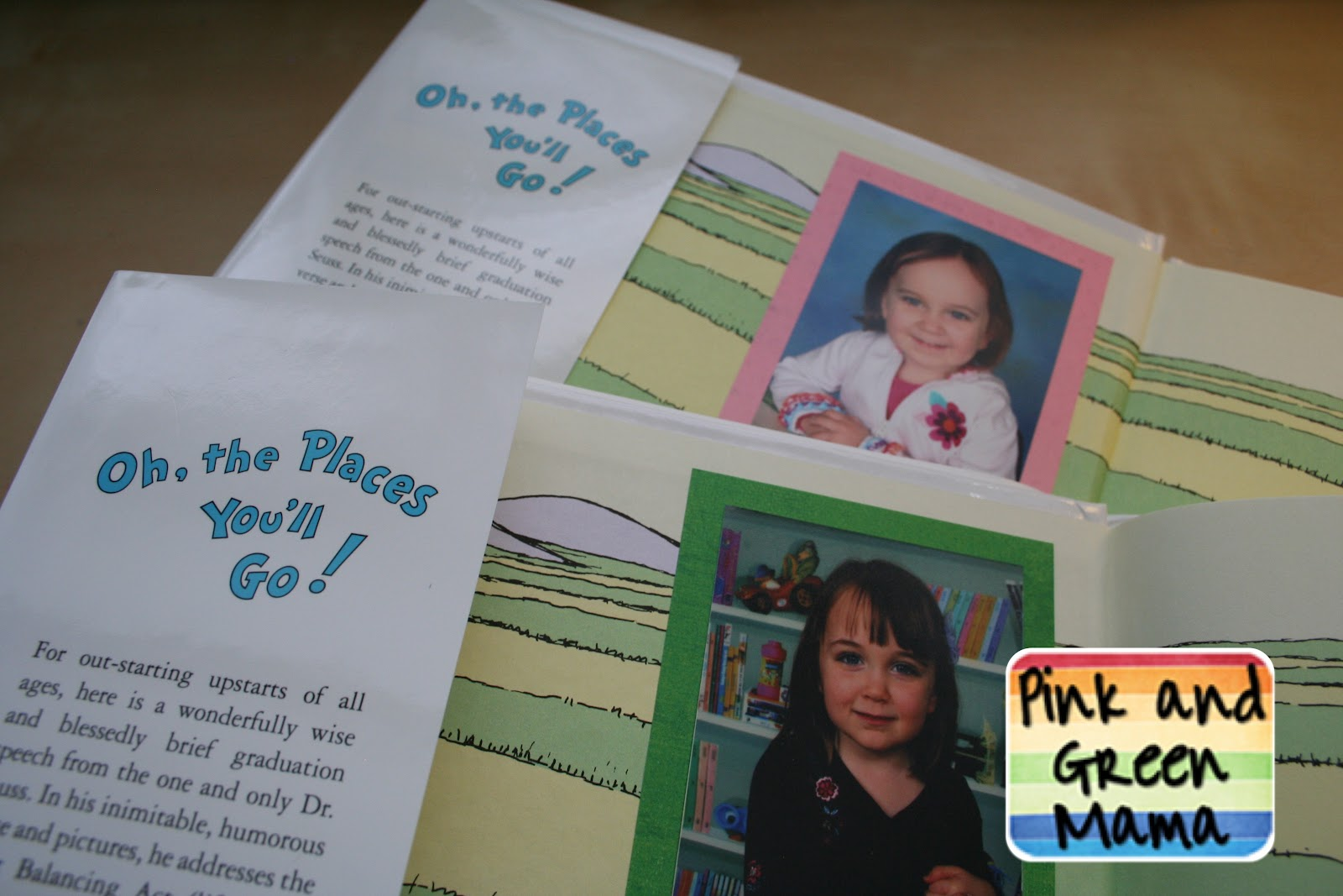 Senior Memory Book Cover Ideas ~ Pink and green mama quot oh the places you ll go school