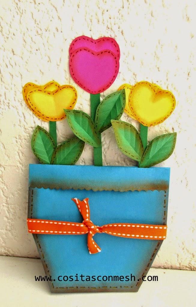 Manualidades flores en foami para el d a de la madre - Regalos para mama manualidades ...