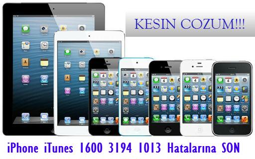 iPhone 1600 Hatası, iPhone 3194 Hatası, iPhone 1013 Hatası, Apple, itunes, ipod, çözümü, çözüm, nasıl, hatası, hataları, 1015 hatası