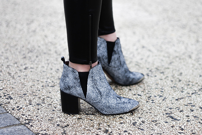 marble ankle boots