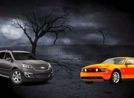 """With the 2015 model year now well underway, there are some scary-good new-car deals available on some very decent leftover 2014s. The cars and SUVs highlighted here each offer potential savings of $2,500 or more, and they carry incentives through at least Halloween.  To make sure these cars are more treat than trick, we focused on those that meet Consumer Reports' stringent criteria to be recommended, meaning they scored well in our testing, have average or better reliability in our latest subscriber survey, and performed well in government or insurance-industry safety tests, if evaluated.  For this grouping, we ranked the models based on dollar savings. Predictably, the best deals are found on the largest, priciest vehicles. But there are several midsized models here that come with generous incentives.  While compiling this list, we also saw that several 2015 models currently have $2,000 or more available in potential savings, including the Chevrolet Malibu and Traverse, Ford Expedition EL and Fusion, GMC Acadia, and Kia Optima.  Specific savings for each model, including other trim variations, can be found via the Consumer Reports car model pages. (Before taking a test drive, read: """"Should I Buy an End-of-Summer New Car?"""")  Each vehicle featured below is a 2014 model, with the exception of the Traverse, and all incentives expire on or after Oct. 31.  See all current Best New Car Deals, or use our New Car Selector to create your own list of vehicles by sorting and filtering by the factors that matter most to you.   Chrysler 300 A large, American-style sedan, the Chrysler 300 is big on style, luxury, and power. The cabin is plush, with many padded surfaces, well-finished leather, and believable fake-wood trim. Front- and rear-seat space is generous, with truly adult-scale accommodations. The 5.7-liter V8 is punchy, but fuel economy is only 18 mpg overall with the five-speed automatic. Instead, the 3.6-liter V6, with its smooth eight-speed automatic, stately ride, an"""