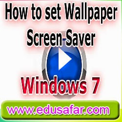 GTU CCC Practical Exam Video 10 how to set Wall paper and screensaver