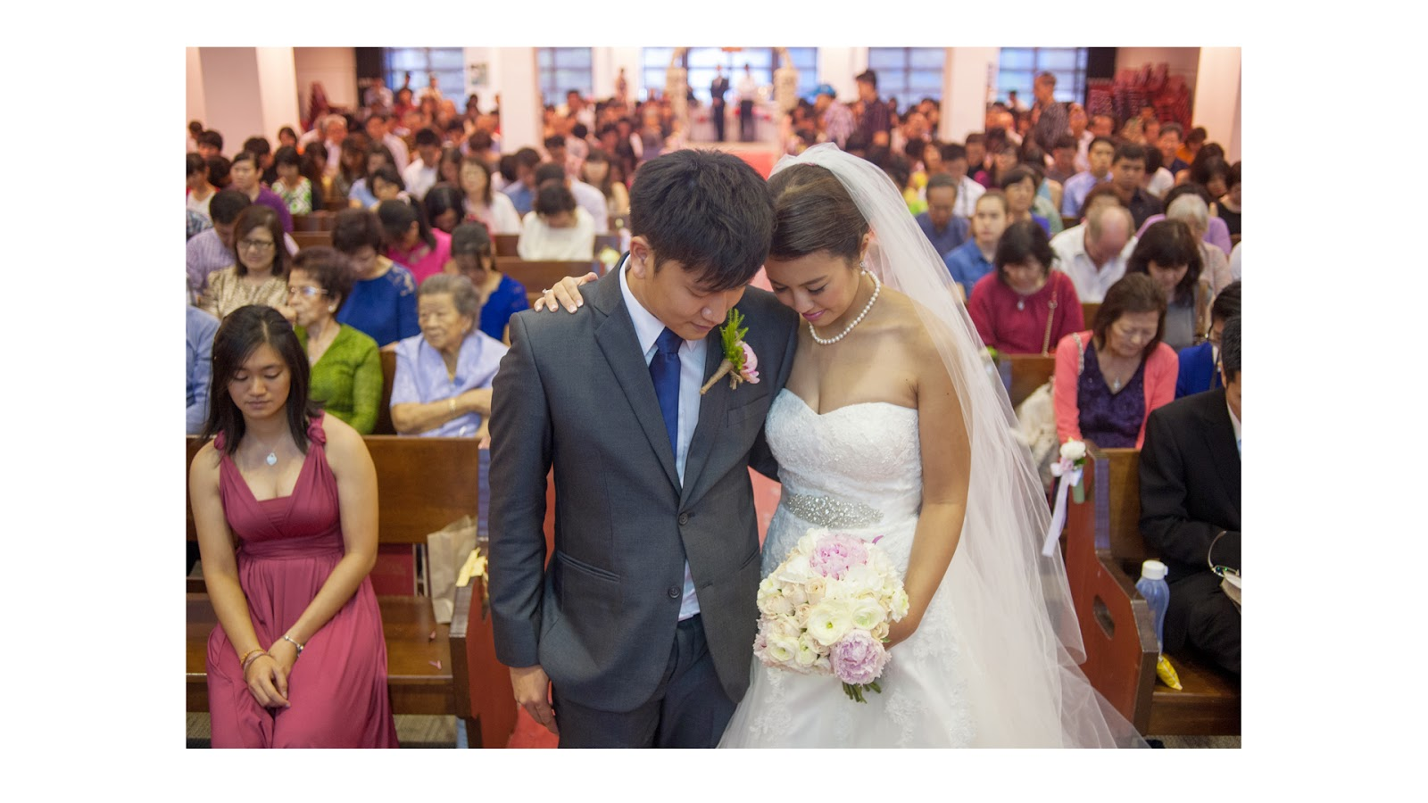 wedding photography singapore church 22