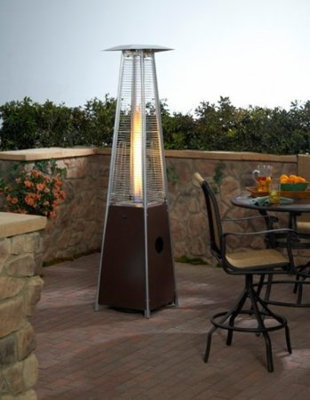 Glass Tube Patio Heater   Hammered Bronze