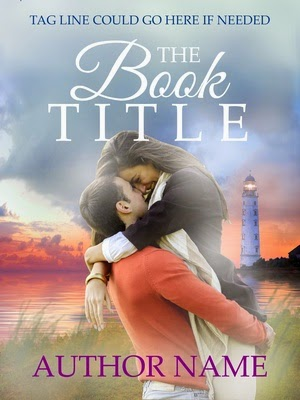 East Coast romance - pre-made, pre-designed book cover with a lighthouse