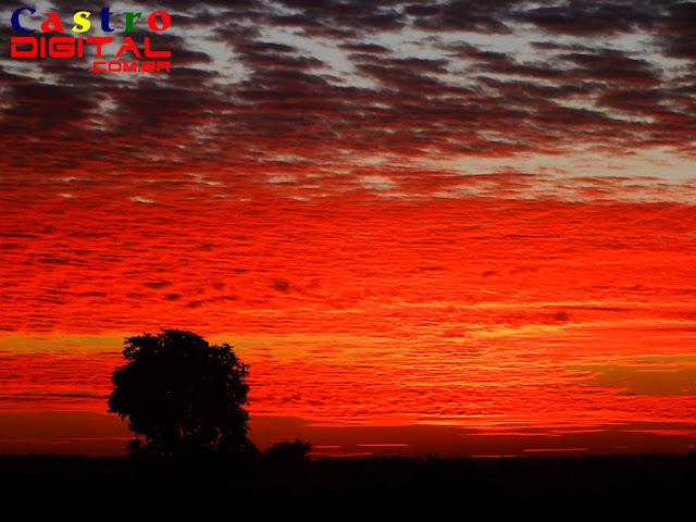 Foto do pôr do sol em Bacabal - MA