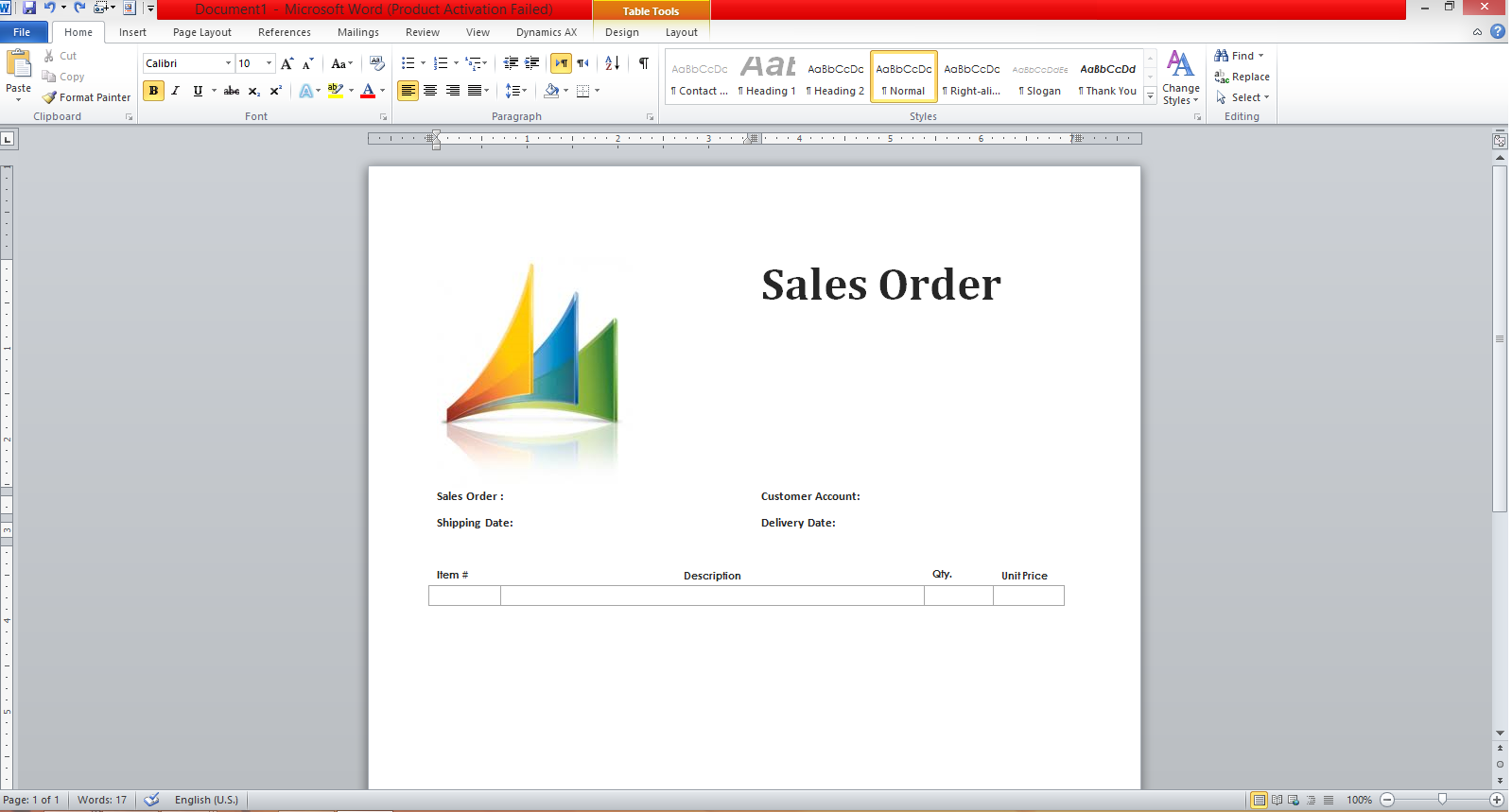 dynamics ax tips export s order data to ms word template add bookmark to each label bookmarks will be used to map the s order fields to the word template
