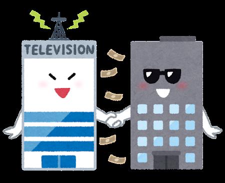 テレビ局の癒着のイラスト