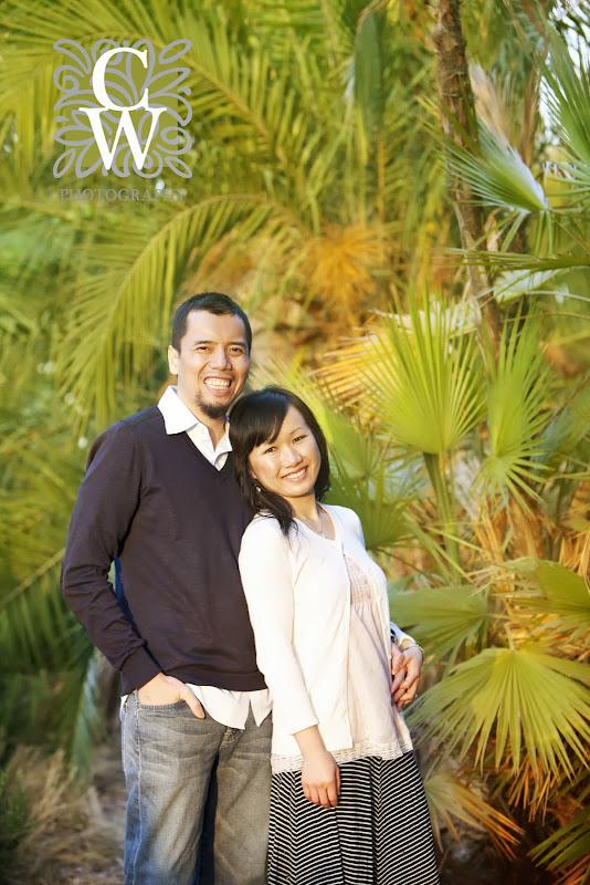 engagement portrait fullerton arboretum